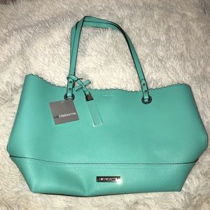Large Bright Blue Liz Claiborne Tote